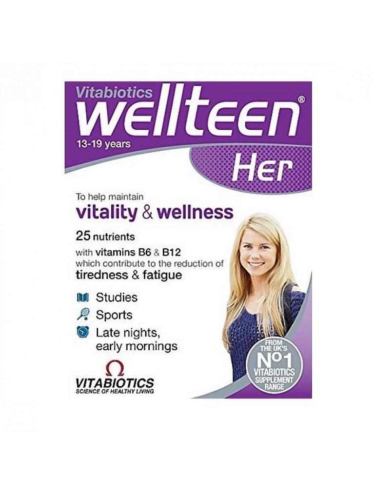 Vitabiotics Wellteen Her, Συμπλήρωμα Διατροφής Για Έφηβες/Νέες Γυναίκες 30Tabs