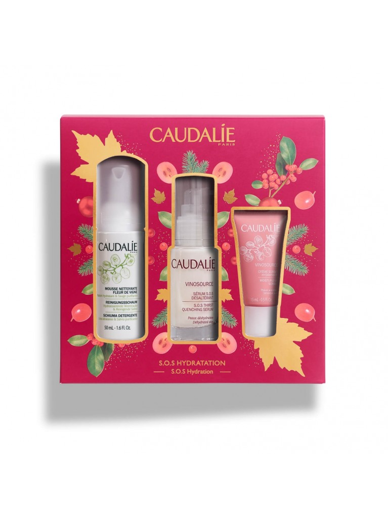 Caudalie S.O.S Hydration Promo Vinosource Serum Ενυδάτωσης 30ml & Δώρο Instant Foaming Cleanser 50ml & Moisturizing Sorbet 15ml