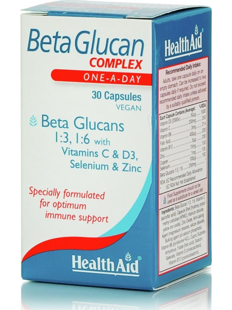 HEALTH AID BETA GLUCAN complex 30caps
