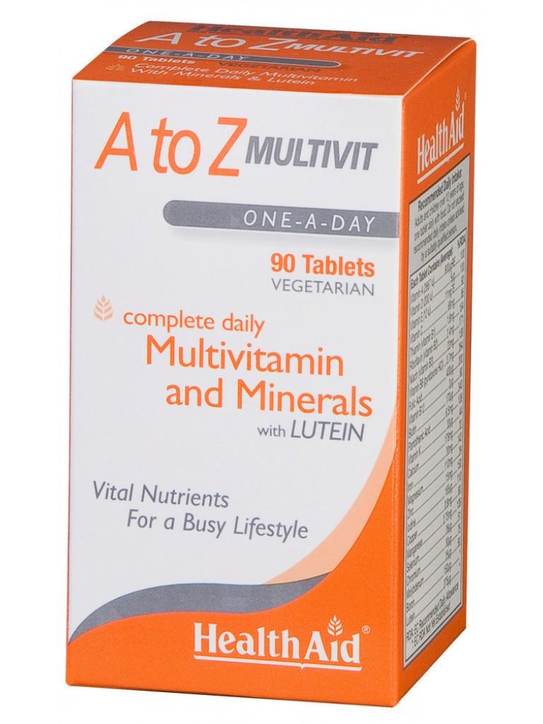 HEALTH AID A to Z Multivit 90tabs