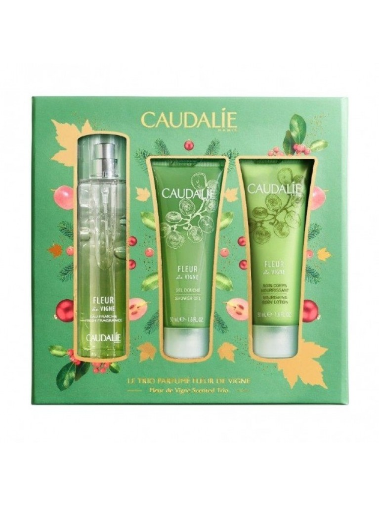 Caudalie Promo Fleur de Vigne Fresh Fragnance 50ml & Shower Gel 50ml & Nourishing Body Lotion 50ml