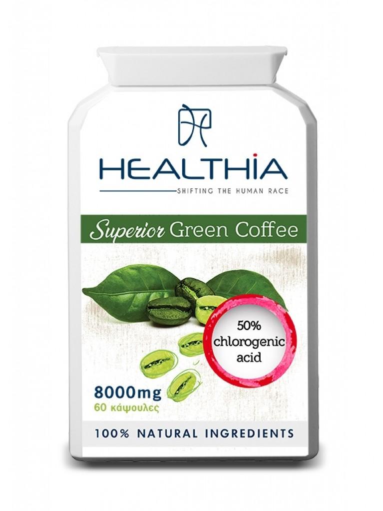 HEALTHIA Superior Green Coffee 800mg, 60caps