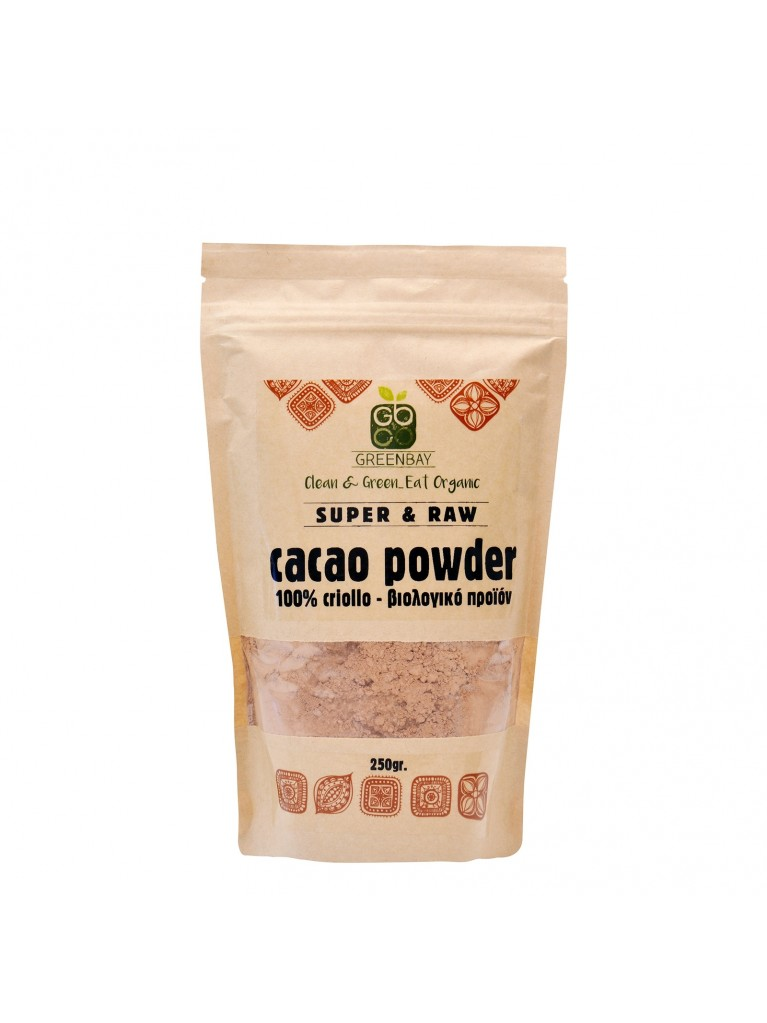 GREENBAY Cacao Powder (Criollo), Σκόνη Κακάο 250gr