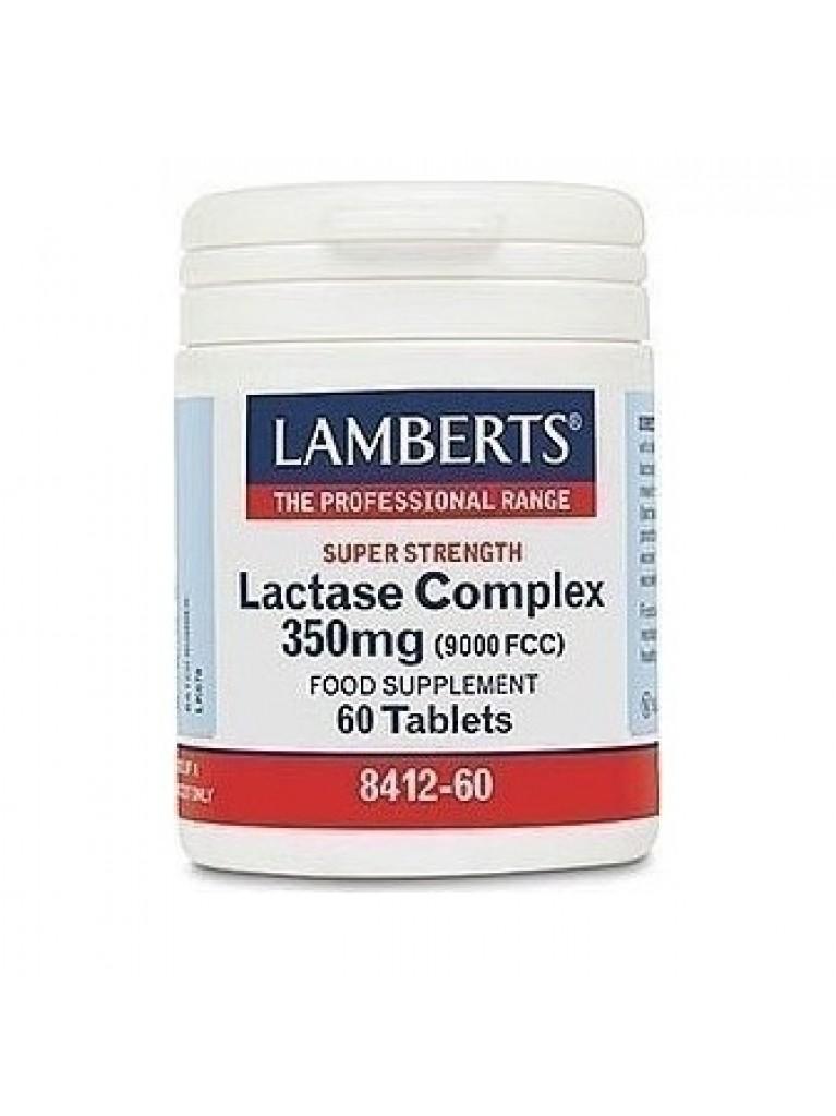 Lamberts Lactase Complex 350mg (9000FCC) Σύμπλεγμα Λακτάσης 60 Ταμπλέτες