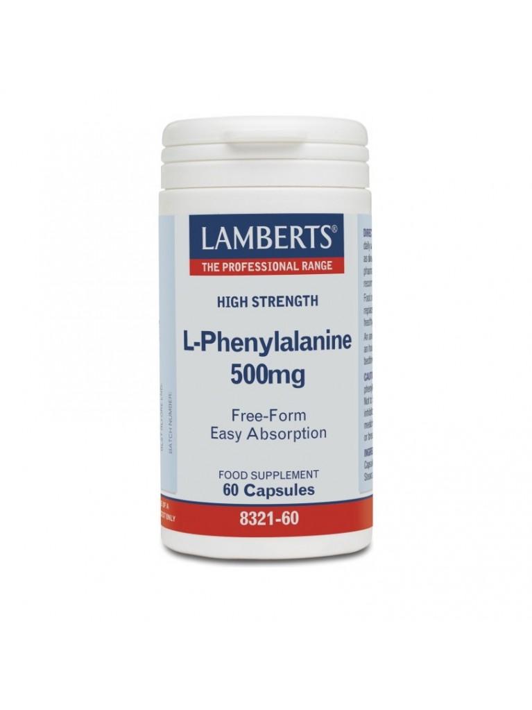 Lamberts L-Phenylalanine 500mg 60Caps