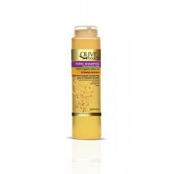 OLIVE TOUCH Σαμπουάν Τονωτικό με βιολογικό Λάδι Ελιάς και εκχύλισμα Μελιού για Ταλαιπωρημένα Μαλλιά 300ml