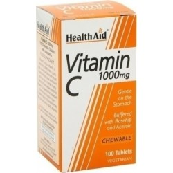 HEALTH AID Vitamin C 1000mg Συμπλήρωμα Διατροφής, 100chew.tabs -economy