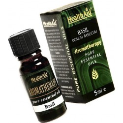 HEALTH AID  AROMATHERAPY Pure Essential Oil Basil - 5ml