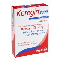 HEALTH AID KOREGIN 600MG 30CAP BLISTER