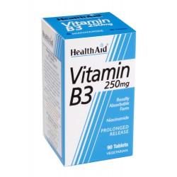 HEALTH AID Vitamin B1 Thiamin Συμπλήρωμα Διατροφής για το Νευρικό Σύστημα 100mg, 90tabs