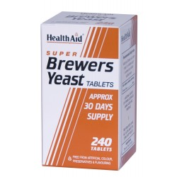 HEALTH AID SUPER BREWERS YEAST Μαγιά 300MG 240TABS