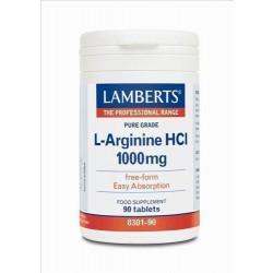 LAMBERTS L ARGININE HCL 1000MG 90TAB