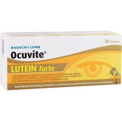 Bausch & Lomb Ocuvite Lutein Forte Ταμπλέτες Συμπλήρωμα Διατροφής Προστασίας Οφθαλμών 30tabs