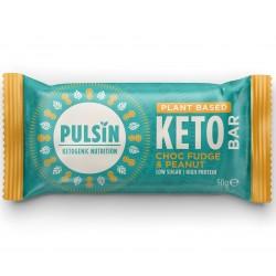 PULSIN Μπάρα Πρωτεΐνης Keto με Κέικ Σοκολάτας & Φυστίκι 50gr